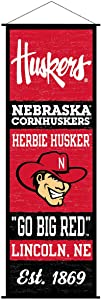 Nebraska Cornhuskers Banner and Scroll Sign