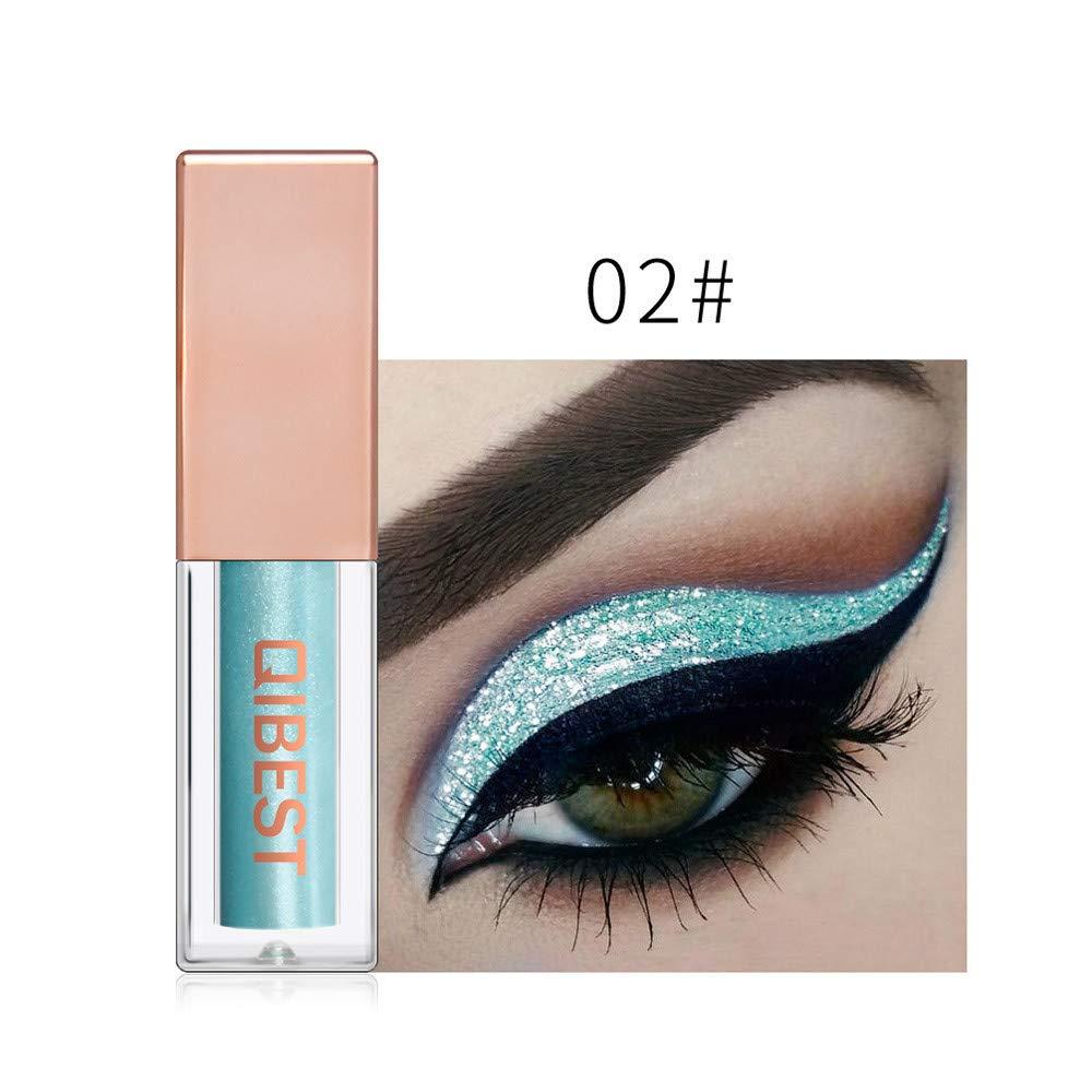 FeiXiang Maquillage Fard à paupières métallisé brillant pour les yeux Eyeliner Liquide Glitter Imperméable 15 Couleur (Or B) Huan S