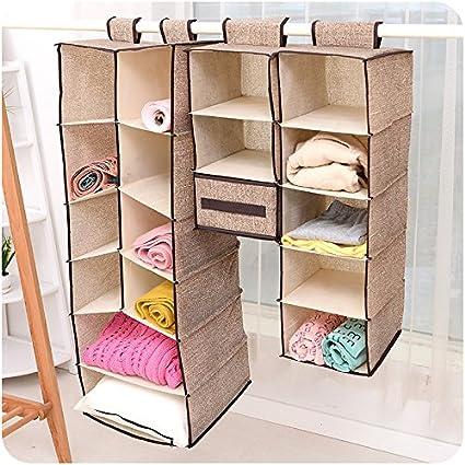 szxuanzhicai Home para colgar ropa caja de almacenaje (5 estanterías) Friendly armario organizador,