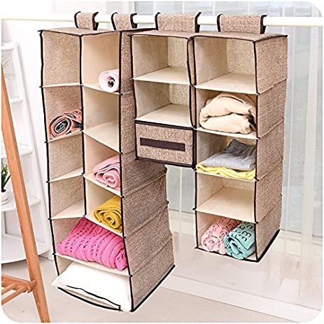 Szwanhuixing Home Hanging Clothes Storage Box (5 Shelving Units) Friendly Closet  Cubby, Sweater