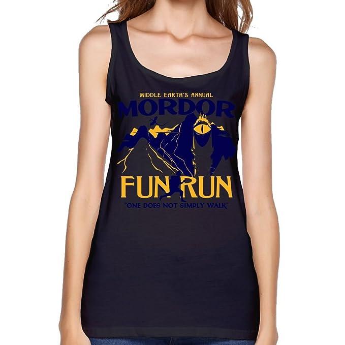 73645bdb Zeyanzehong Mordor Fun Run Graphic Women Scoop-Neck Sports Tank Top Black S