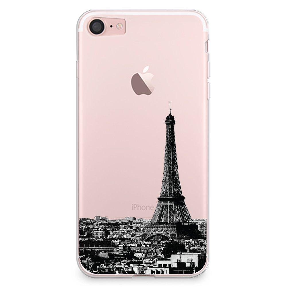 iPhone 7 Case, CasesByLorraine Paris City View Clear Transparent ...