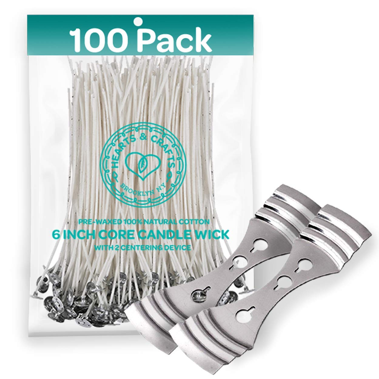 WANDIC Candle Wicks 200 Foot //61 M Braided Wick with 2 Pcs Candle Wick Stickers for Candle DIY and Candle Making