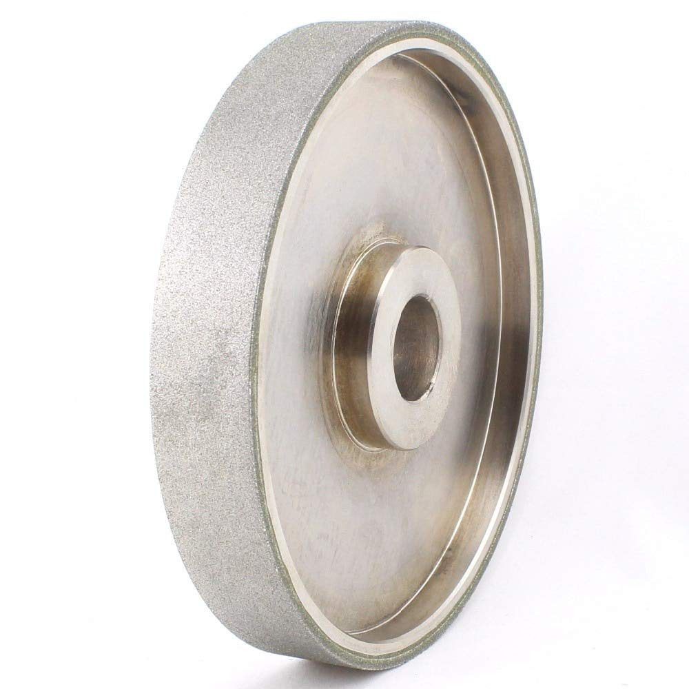 Maslin 6'' inch Grit 46-2000 Facing Diamond Grinding Wheel Coated Bore Size 1'' W Bushing Arbor 3/4 5/8 Lapidary Tools for Stone - (Grit: 240 Medium)
