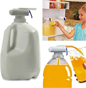 Automatic Drink Dispenser,Magic Eletric Tap Automatic Drink Dispenser,Fruit Milk Juice Spill-Proof Drinks Suck Tools For Home Outdoor Kitchen (white)