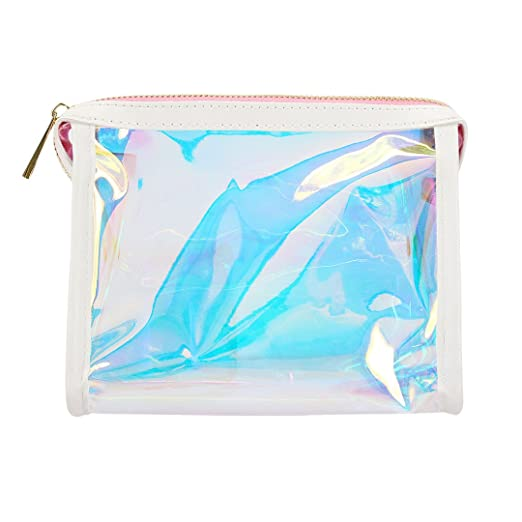 6252f6fb1202 Amazon.com : Gabrine Womens Clear Transparent Rainbow Hologram ...
