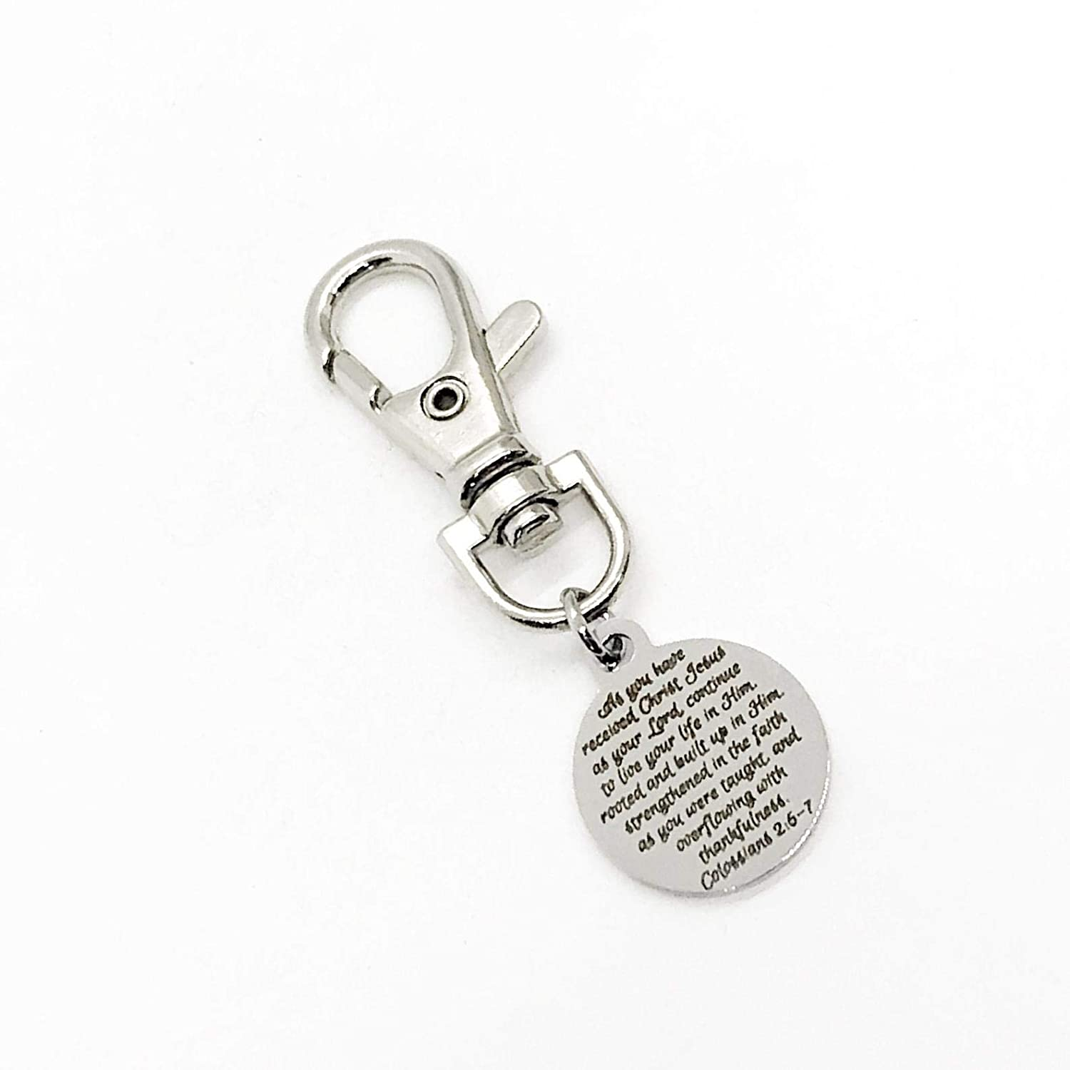 BAPTISM keyring BOXED ENGRAVED FREE Metal Key ring perfect GIFT