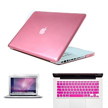 Nueva mate/Cristal Caso Claro Con Cubierta De Teclado + Protector de pantalla para MacBook