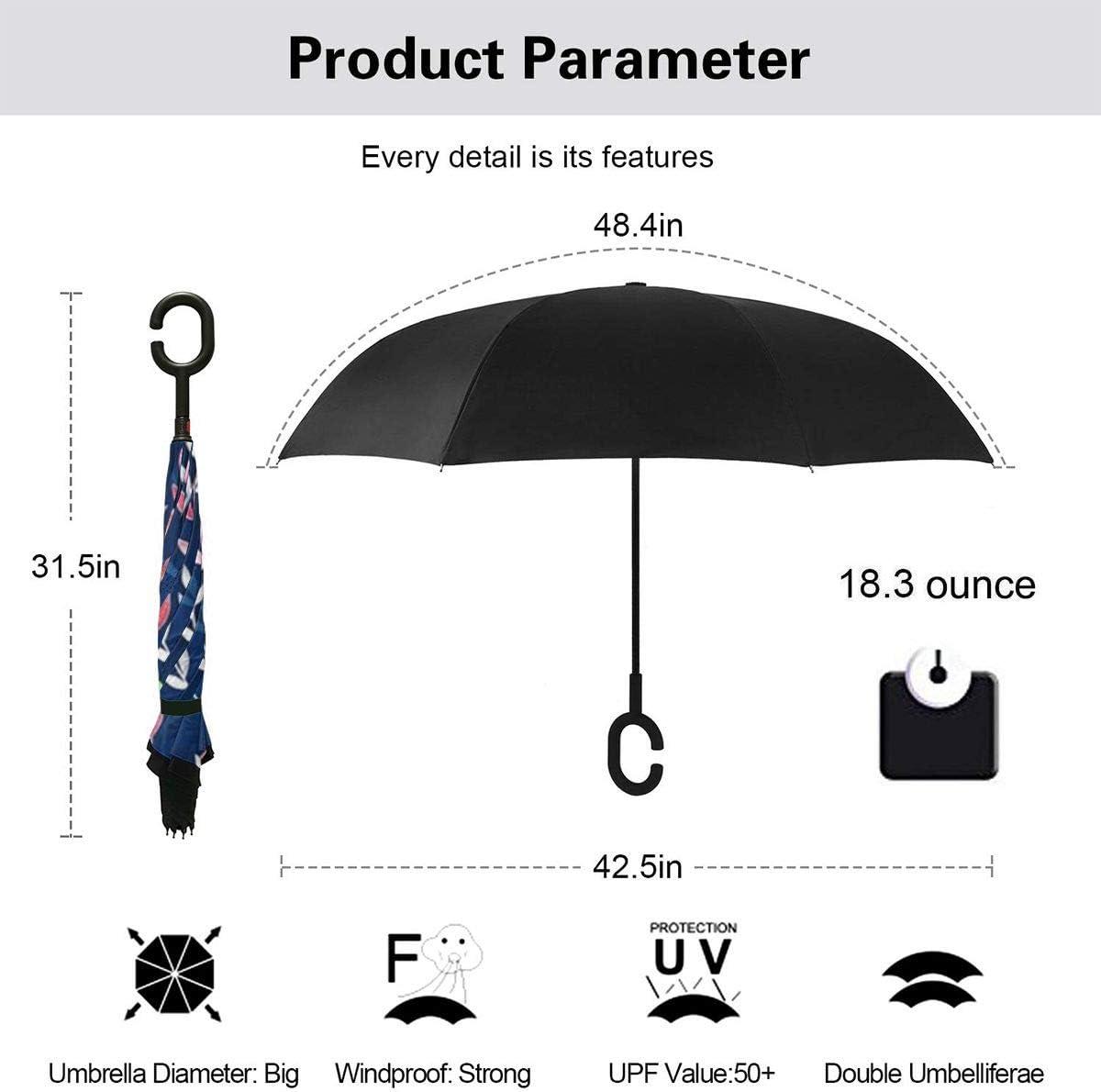 S200US Beautiful Mermaid Pattern Inverted Reverse Umbrella Sun/&Rain Car Large Windproof Travel UV Umbrella