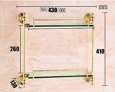 Material de cobre grueso de cristal de la pared del estante del cuarto de baño de la galería de cristal moderna 8m m Vidrio moderado (Tamaño : 600mm): Amazon.es: Bricolaje y herramientas