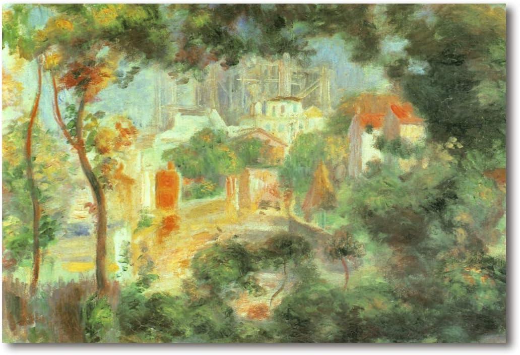 Cuadro Decoratt: Looking Out at the Sacre Coeur - Renoir 35x25cm. Cuadro de impresión directa.