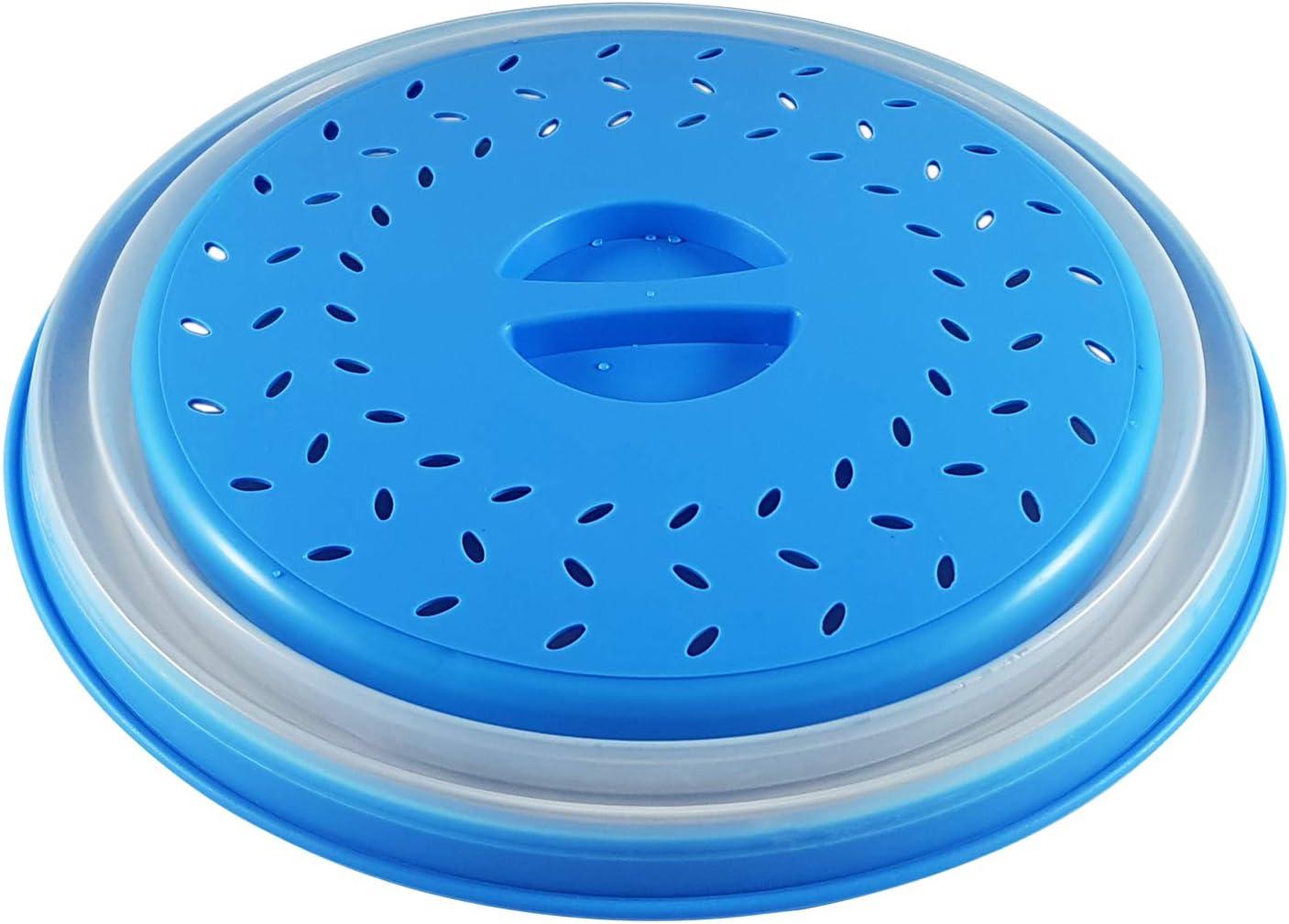 Colonel Cook- Campana de Cocina para microondas-sin BPA-✮✮GARANTÍA DE por Vida✮✮-envase para Micro-Ondas 3 en 1-Campana para microondas retráctil, Anti-Vapor y con función colador