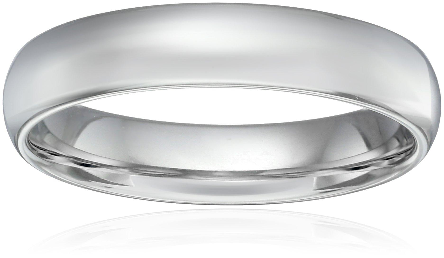 Standard Comfort-Fit Platinum Band, 5mm, Size 9.5