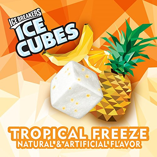 Large Product Image of ICE BREAKERS Ice Cubes Sugar Free Gum, Tropical Freeze, 40 Piece