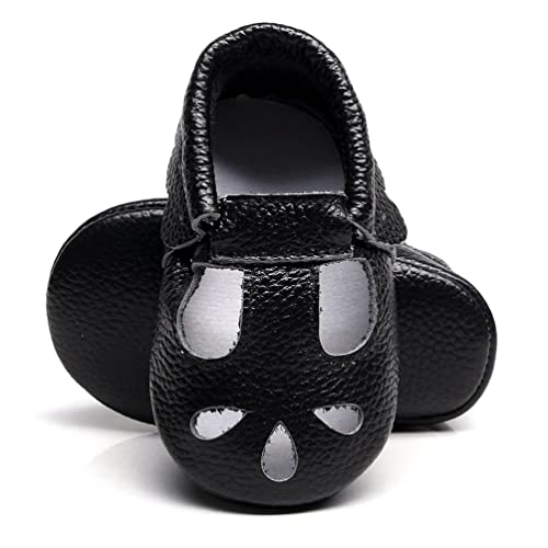 732ee9479a92d HONGTEYA Baby Girls Boys Shoes Mary Jane Sandals Soft Sole T-Strap Leather  Baby Moccasins Toddler Shoes