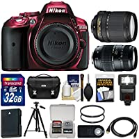Nikon D5300 Digital SLR Camera Body (Red) with 18-140mm VR & 70-300mm Zoom Lens + 32GB Card + Case + Flash + Battery Kit Benefits Review Image