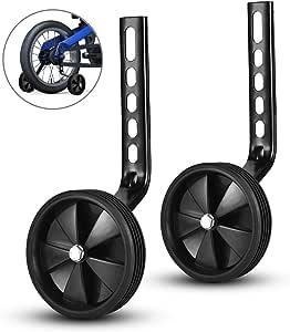 ZOSEN 1 par de estabilizadores de Bicicleta Ruedas de Entrenamiento de Bicicleta para niños Accesorios de Bicicleta Ruedas de Apoyo para 12 14 16 18 20 Pulgadas Bicicleta (Negro): Amazon.es: Deportes y aire libre