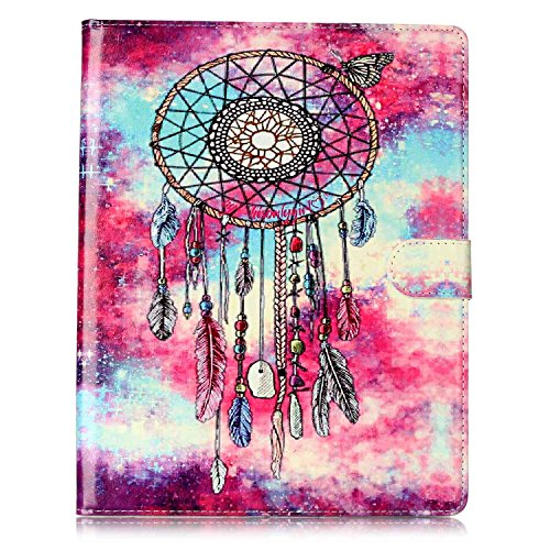 iPad 2/3/4 Case, Dteck(TM) Slim Flip PU Leather Wallet Case with Card Slots/Money Pouch Kickstand iPad Case Magnetic Closure Shell Full Body Protective Case Cover for Apple iPad 2 3 4,Dreamcatcher by Dteck (Image #2)