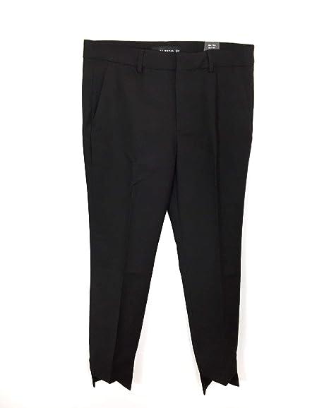 3615831e Zara Women's Asymmetric Hem Trousers 6136/040 Black: Amazon.co.uk ...