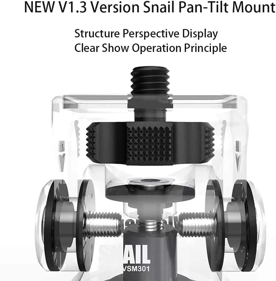 BOLING VSM301 Mini Hot Shoe Stand Monitor Mount BOLING P1 Accessories Vlogger Camera Monitor Mount Snail Head Damping Camera DSLR Camera Rabbit Cage Monitor Stabilizer Hot Shoe Bracket Accessories