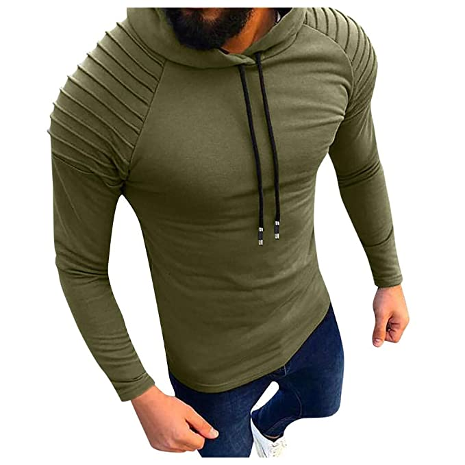 GDJGTA Sweaters for Mens Autumn//Winter Casual Long Sleeve Cotton Solid Color Sweaters Tops