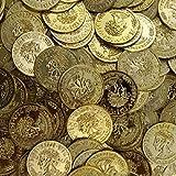 3 BAGS - Toy Plastic Money Gold Coins 144 count bag Pirates Loot Veni Vidi Vici