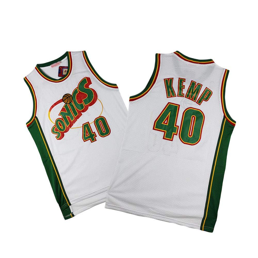 MMQQL Camiseta para Hombre - Shawn Kemp # 40 Oklahoma City Thunder ...