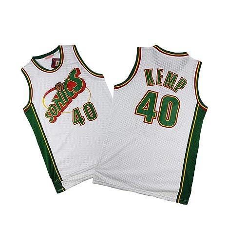 Z-ZFY Camiseta Sin Mangas De Baloncesto De La NBA Shawn Kemp # 40 ...