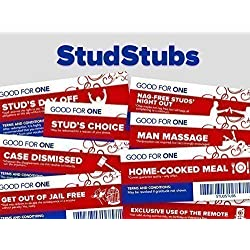 Stud Stubs - Valentine's Day Love Vouchers for Men - Love Coupons for Him - Anniversary or Birthday Gifts for Man