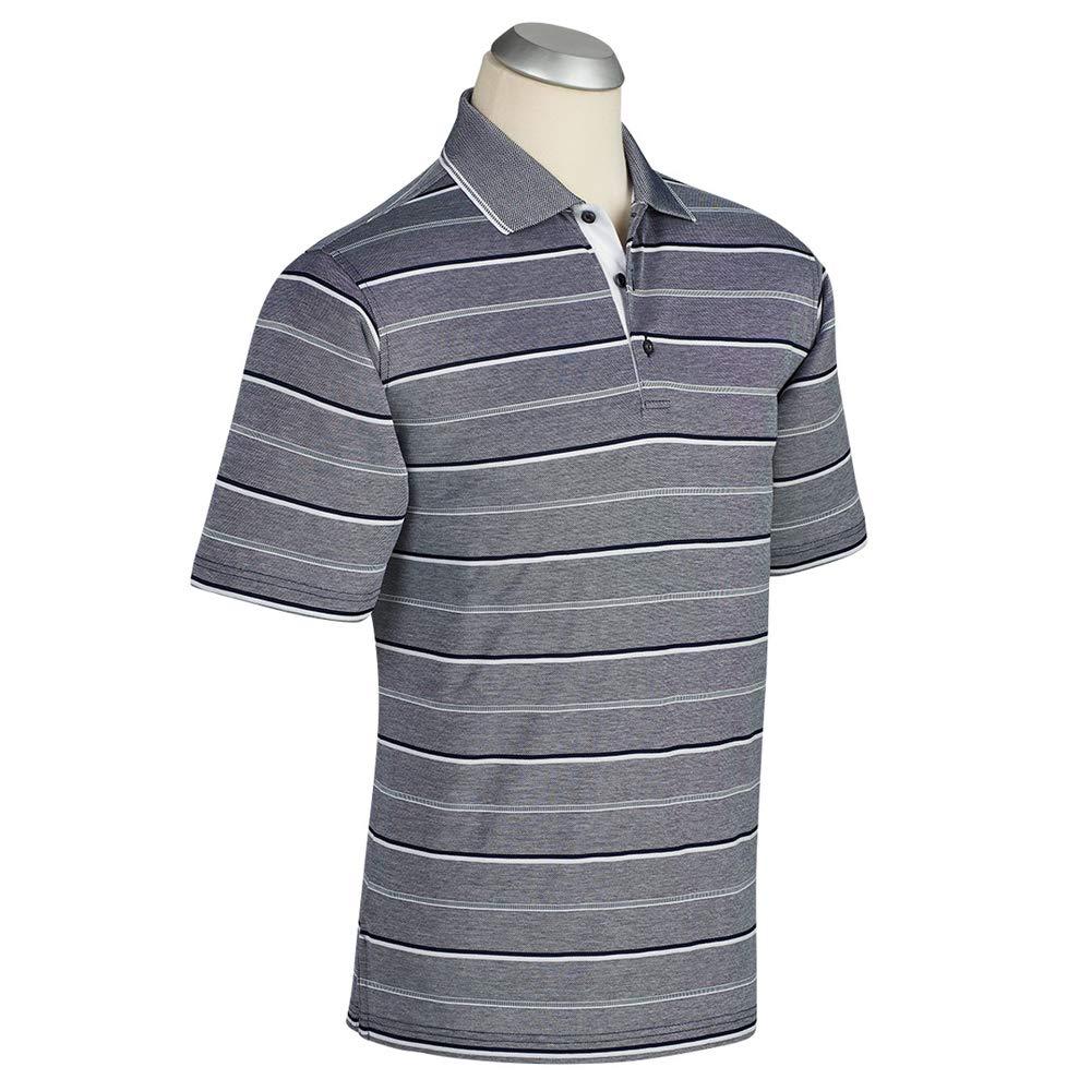 ボビージョーンズ マリナー ジャカードストライプ 半袖ゴルフポロシャツ 2018年 Medium ネイビー B07HQCD112