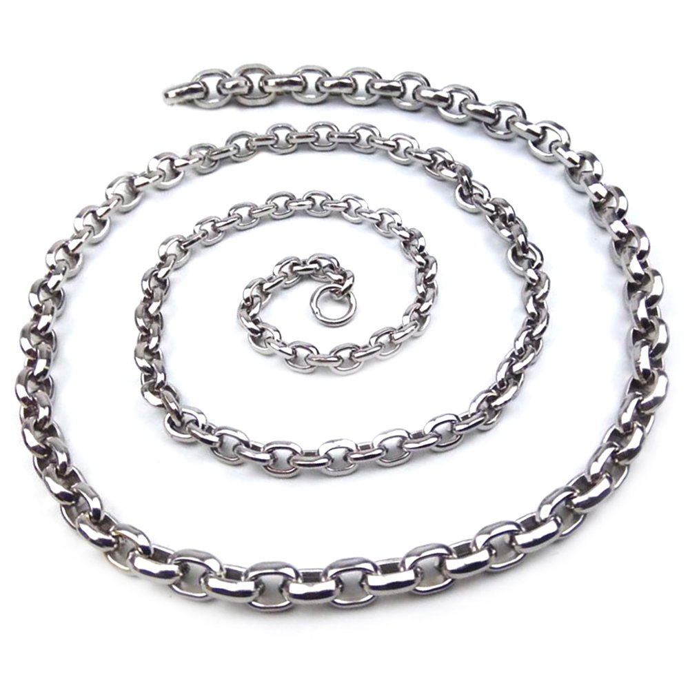 304 Full Steel Self Defence Hand Bracelet Chain Stainless As A Flat Curb With Men'S Cool Link Necklace Outdoor Equipment Wristbands Sports Fitness Self-Defense Double-Ribbed Whip Waist (0.8-0.9KG models) Comaie