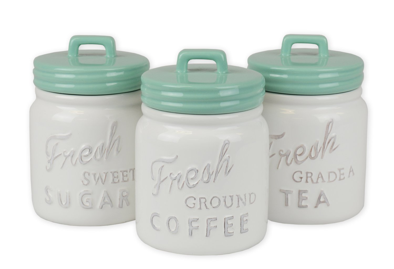 Amazon.com: DII 3-Piece Vintage, Retro, Farmhouse Chic, Mason Jar ...