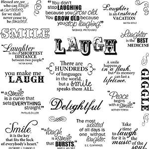 Fiskars Laugh with Me - Lote de pegatinas con mensajes positivos en inglés (20,3 x 20,3 cm)