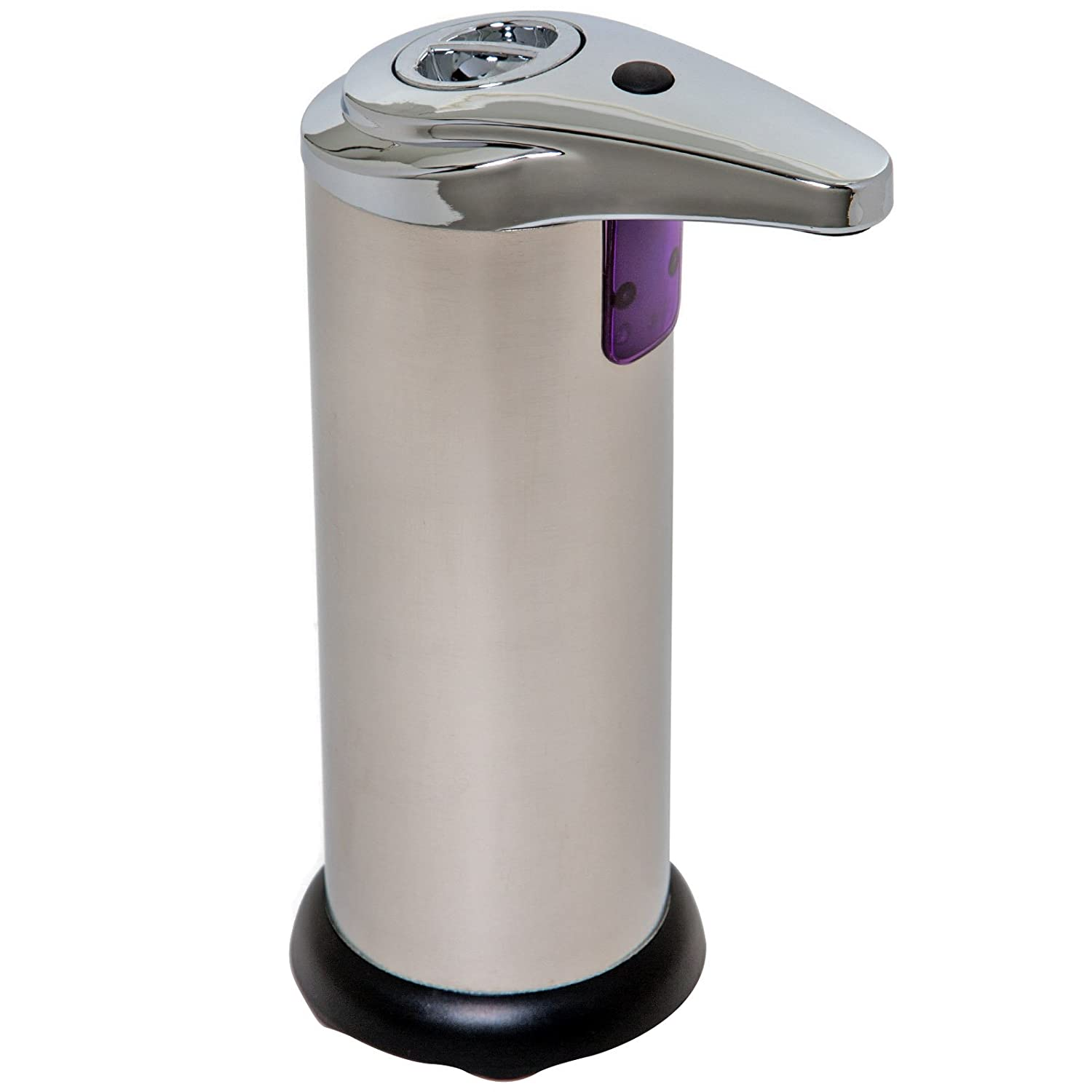 Amazon.com: Homebasix Touch-Free Soap Dispenser, 7.8 Oz, Stainless Steel: Home & Kitchen
