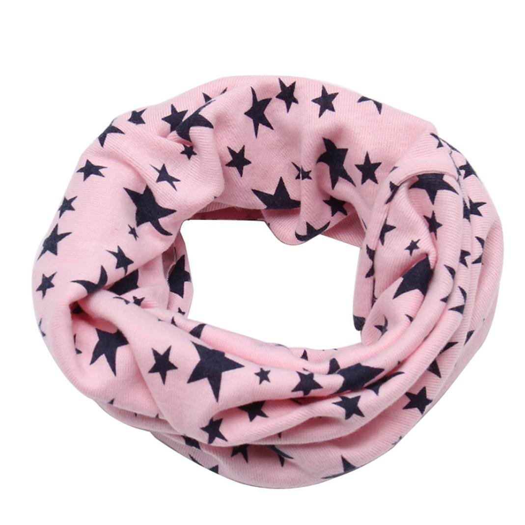 TOOPOOT Winter Boys Girls Scarf O Ring Neck Keep Warm Star Print Scarves