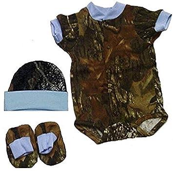 bf148e53c Image Unavailable. Image not available for. Color: JLCK Baby Boys 3 Pc  Bodysuit SET Mossy OAK Camo ...