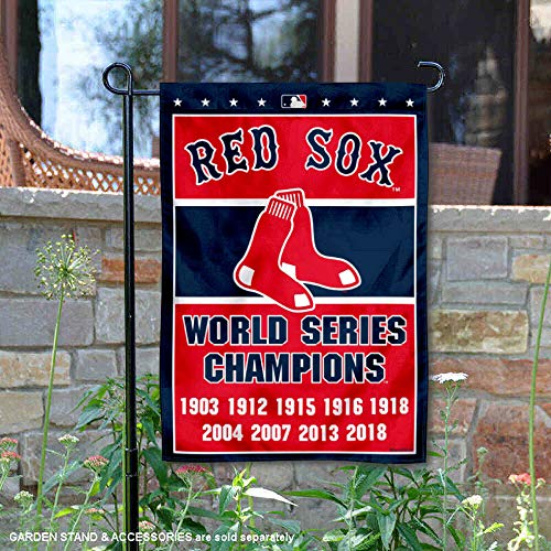 Boston Red Sox 8-Time World Series Champions Double Sided Garden ()