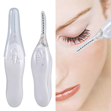 Electric Eyelash Curler Heated Upgraded Portable Automatic Eyelash Curlers with LED Light Eye Curlers for...