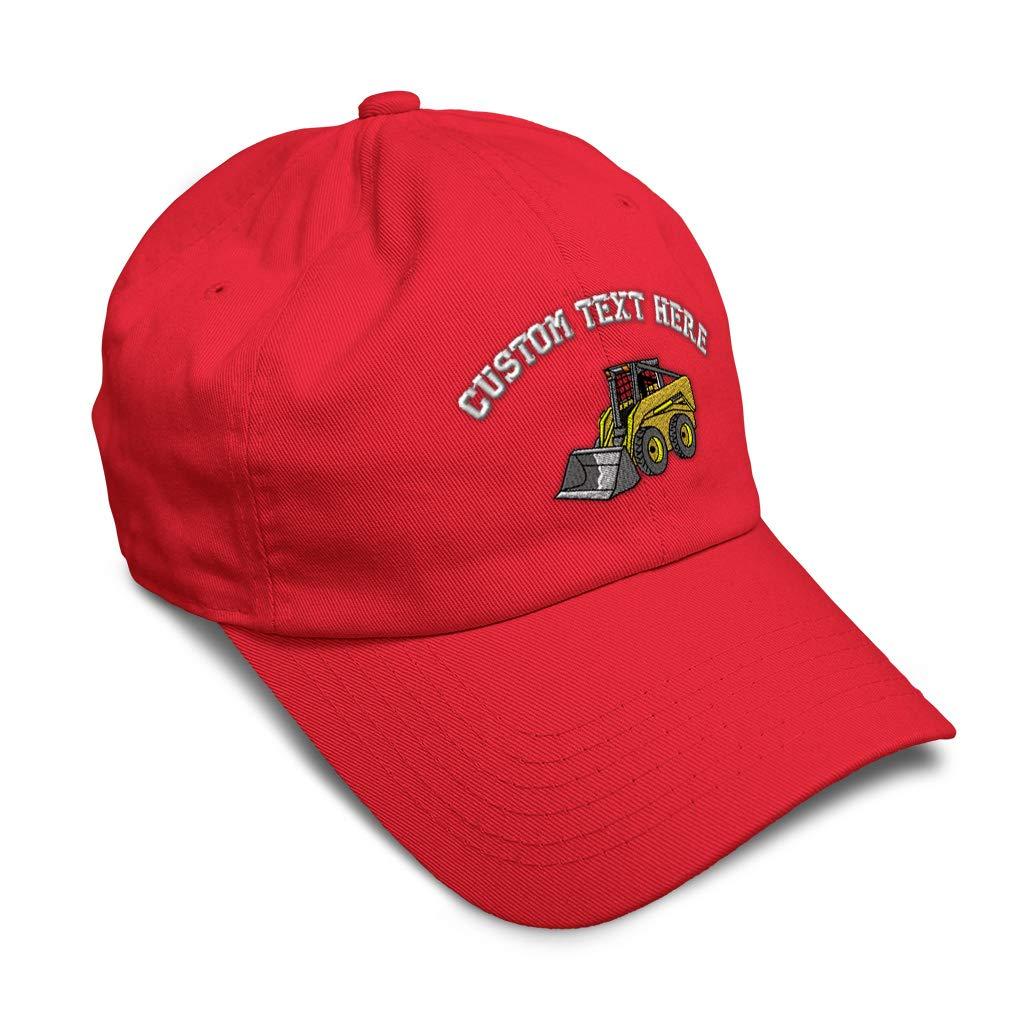 Custom Soft Baseball Cap Skid Steer Embroidery Dad Hats for Men /& Women