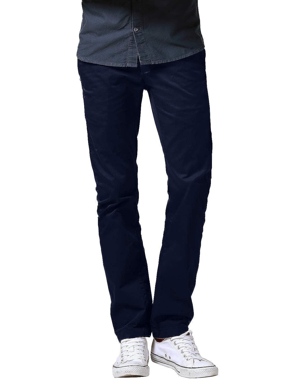 TALLA 30 (ES 40). Matchstick Pantalones Chino Slim Fit Casual de Algodón para Hombre