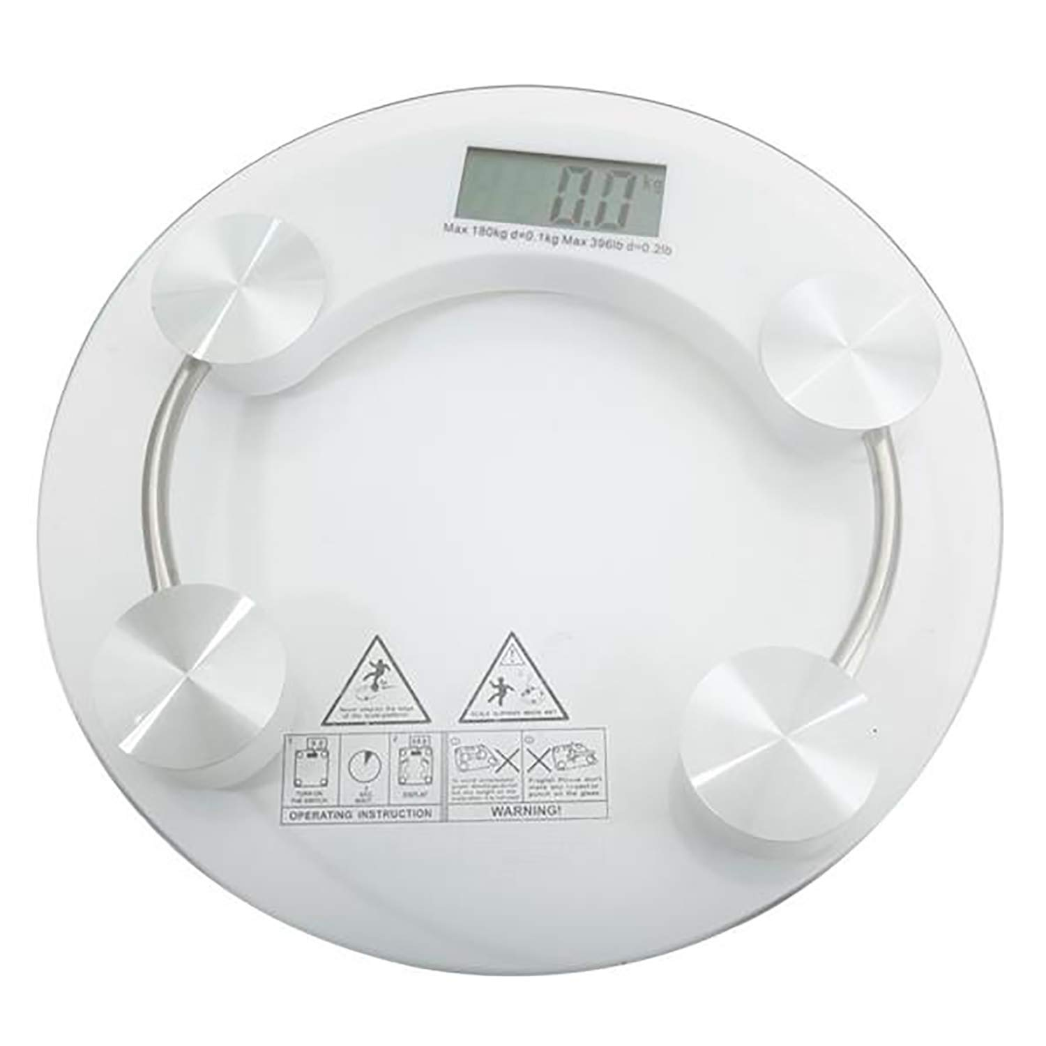 Sorlook Digital Body Weight Scale, Bathroom Scale with 4-Digits LCD Display, High Precision Measurements, 400 Pounds Max, High Strength Toughened Glass by Sorlook
