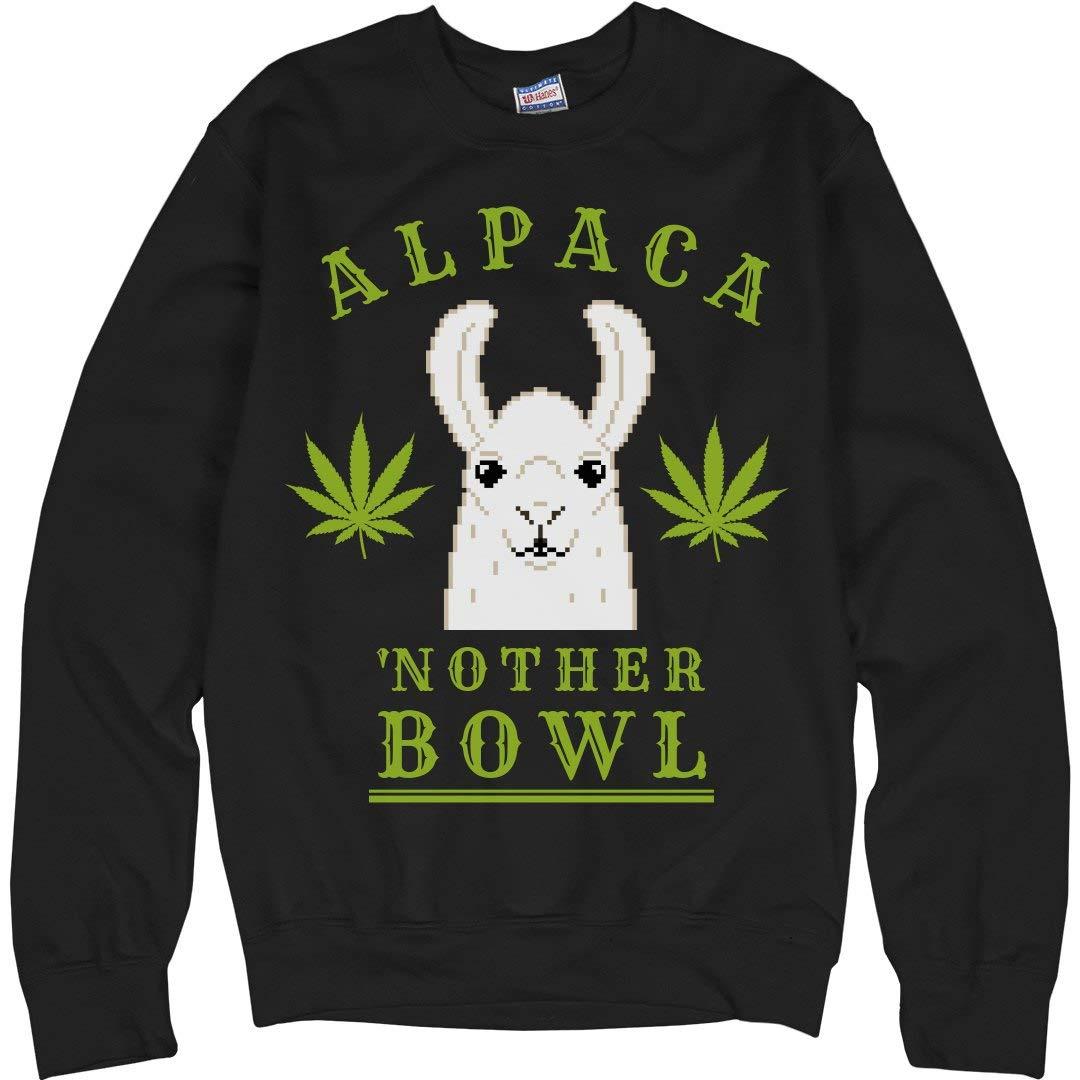FunnyShirts.org Alpaca'nother Bowl Llama Green: Unisex Ultimate Crewneck Sweatshirt