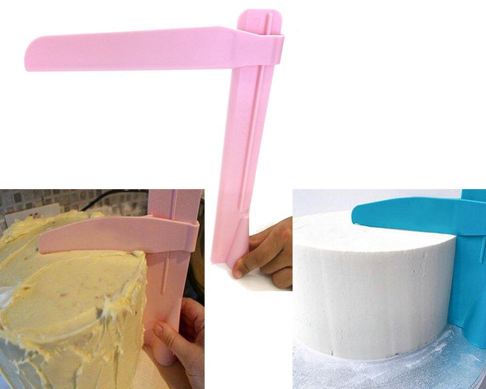 Adjustable height NEW Plastic Cake Smoother Tool Edges Scraper Fondant Cream Sugarcraft Spatula DIY Christmas Baking Wedding Birthday Cake Mold Sakolla