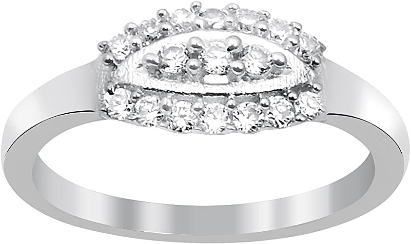 Orchid Jewelry Sterling Silver 925 Cubic Zirconia Rings