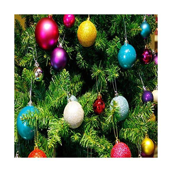 Lhbfcy Sfere per Albero Natale Set Plastica Palle Palline Nozze Dell'albero Pallina Verniciata Bagattelle Artigianali Palla per Brillanti Pendenti Natale Scintillanti Deco 4 cm/1.57 Pollici(48 PZ) 6 spesavip