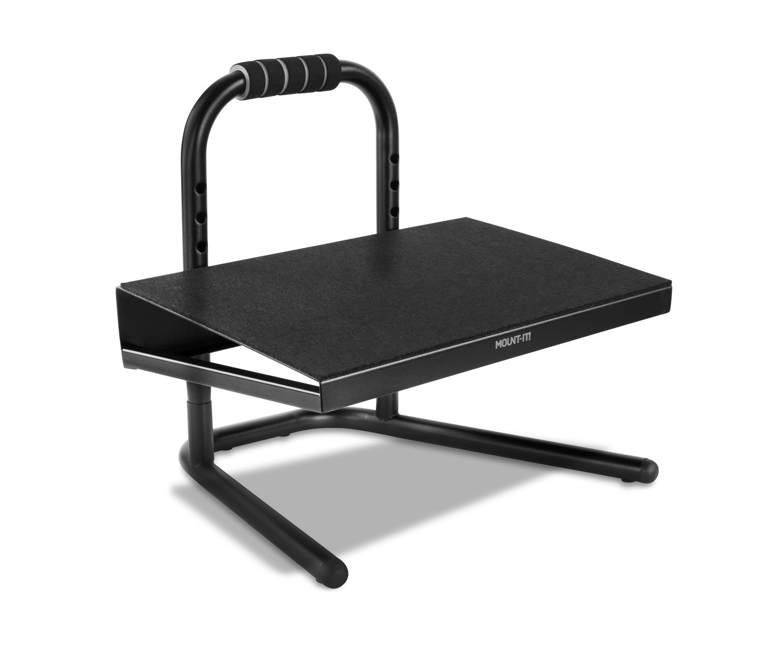 Mount-It! Height Adjustable Foot Rest for Under the Desk, Freestanding with Handle and Six Height Settings, Anti-Slip Padded Surface MI-7807
