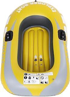 Dwawoo Bote Inflable, balsa Inflable de la Persona Inflable de la Canoa 1 del Kayak del PVC para Pescar el Salto de Deriva