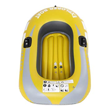 Alomejor PVC Inflable Kayak Canoa 1 Persona Remo Aire Barco Pesca ...