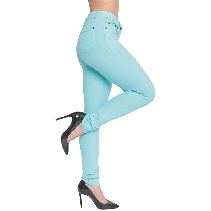 f3b3f844418 Made By Malaika® New Ladies Womens Skinny Jeans Fit Coloured Jeggings  Pencil Stretchy Trousers Long Legs Summer Denim Pants UK Plus Size 8-26   Amazon.co.uk  ...
