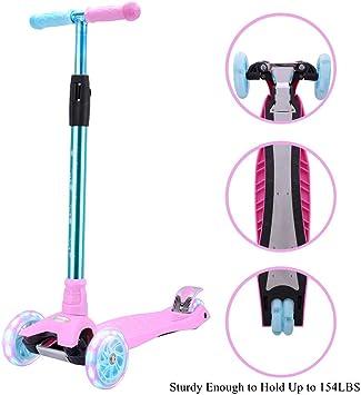 Amazon.com: Patinete para niños con 3 ruedas, 4 ruedas de ...